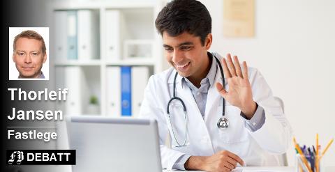 «Si hei til legen». Digital kommunikasjon med legen kan effektivisere helsevesenen. Brevforfatter Thorleif Jansen mener legemangelen kan avskaffes på denne måten. Foto: Colourbox