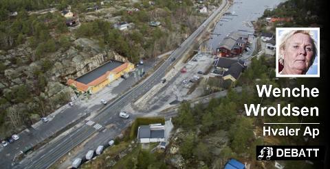 Ødegårdskilen på Vesterøy er stedet der Hvaler Ap vil ha utredet  en parkering for pendlere som kan ta bussen helt til Oslo. Arkivfoto: Erik Hagen