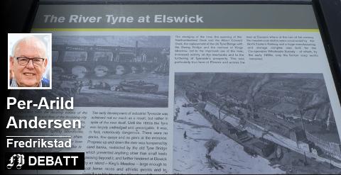 52a71ed4 Informasjonsplattform ved elven Tyne i Newcastle. – Dette er en modell  Fredrikstad kan følge,