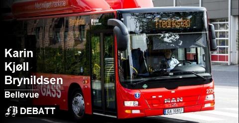 – Bussen skal være en sosial selvfølge, ikke noe en må kjempe og slåss for, mener Karin Kjøll Brynildsen som er svært dårlig fornøyd med tilbudet som trådte i kraft på forsommeren.