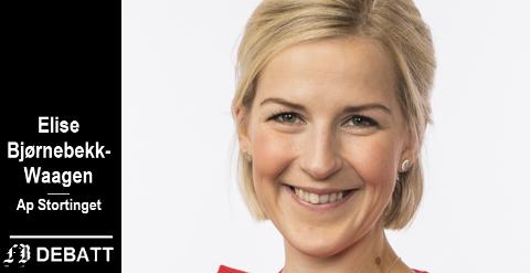 Elise Bjørnebekk-Waagen: – Unge på utsiden av arbeidslivet fortjener politikere som prioriterer tiltak for at arbeidslivet skal ha plass til dem.