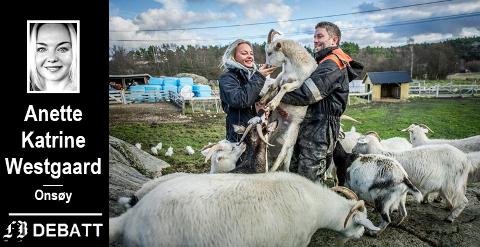 Dyrenes velferd og egenverdi står helt sentralt for Anette Katrine Westgaard og Andreas Bjørnebye på Dale Store gård.