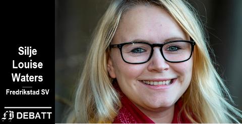 Silje Louise Waters, Fredrikstad SV: – Noen ganger har komplekse spørsmål enkle svar, særlig når man ser fremveksten av diverse kontroversielle verdensledere med tilgang på utløserknappene.
