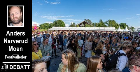 Idyllfestivalen får i innlegget ros for å gi et tilbud som gjør Fredrikstad til en mangfoldig by, men lederen forstår ikke hvilke utfordringer andre festivaler står overfor, heter det.