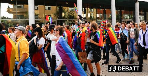Det ble oppgitt at 1200 gikk i opptoget til Pride Fredrikstad i fjor. Kjell Tveter er bekymret over mottoet at alle former for seksualitet er likeverdige, og skal leves fullt ut.