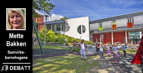 Kråkeby barnehage, en av barnehagene som har langt flere søkere enn det er plass til idet opptaket for kommende høst er i sluttfasen.