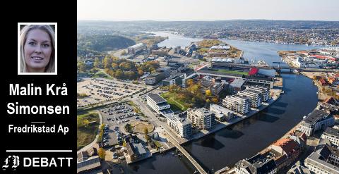 – Fortetting er et viktig virkemiddel for byutviklingen, men den ikke må skje på bekostning av grønne områder, kulturminner og lokalt særpreg, skriver Krå Simonsen.  Bildet viser store områder på Værste som står overfor store endringer.