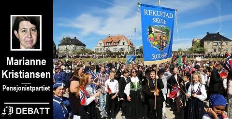 – Det er få fra kommunedelene som får komme i «bursdagen», mener Marianne Kristiansen om bollefesten på Tollbodplassen 17. mai.