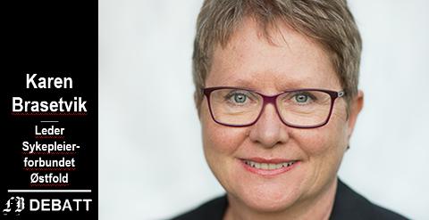 Karen Brasetvik, leder av Sykepleierforbundet Østfold