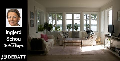 – Det er et mål at flest mulig skal eie sin egen bolig. Selveierdemokratiet står sterkt i Norge, heter det i  Schous innlegg.