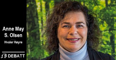 – Hvaler Høyre vil jobbe for at vi får bedre kunnskap og mer åpenhet om tilstanden i omsorgtjenestene i Hvaler, skriver Anne May S.  Olsen.