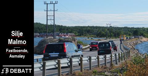 – Odd Løkkevik skriver at det var det store flertallet som betalte for fastlandsveien. Er det så rart, da? spør Silje Malmo.