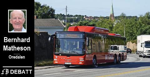 Skaff et bra busstilbud, ber Bernhard Matheson: – Kan Høyre-Bærum, så må Arbeiderparti-Fredrikstad også klare det.