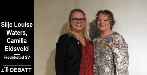 Silje Louise Waters (til venstre)  og Camilla Sørensen Eidsvold er henholdsvis nummer 2 og 1 på SVs  kommunevalgsliste for 2019.