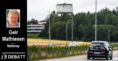 – Alle veifarende turister til og fra Norge kjører jo forbi her, fastslår Geir Mathiesen.