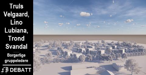 Området der Solid Prosjekt ønsker å sette opp 30 rekkehus ligger i Klokkerstuveien på Byens marker, øst for Habornveien og sør for Torsnesveien.