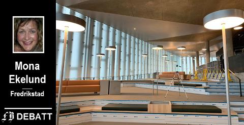 – Se på vårt aller nyeste bibliotek, Deichmanske i Bjørvika når det åpner om et par måneders tid, skriver Mona Ekelund. Biblioteket gir rom for mange flere aktiviteter enn utlån av bøker, og har for eksempel sitteplass til 1200 mennesker.