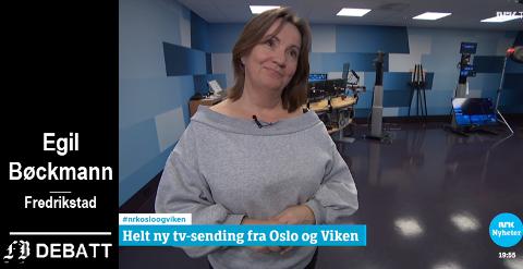 Regionredaktør Jannicke Engan  forklarte i årets første sending at det skal bli en bedre sending når ressursene i Oslo og Viken samles. Det er ikke en forklaring Egil Bøckmann slår seg til ro med.