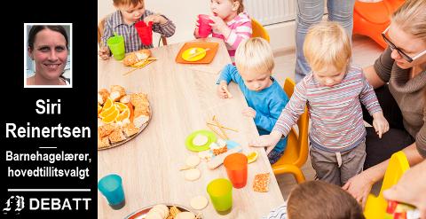 – Bemanningsnormen er fin på papiret, men allerede en time inn i dagen har den ansatte 8 barn mer enn normen tilsier, forteller Siri Reinertsen.