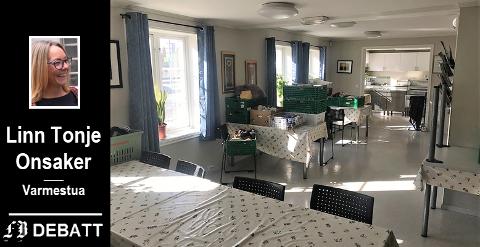 Stengt. – Nå er alt tomt, rart, stille og annerledes, skriver Linn Tonje Onsaker. Mens huset er uten gjester pågår opprydning i lokalene.