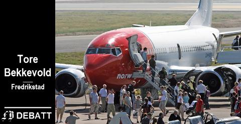 «SPAREBØSSEN» NORWEGIAN: Bekkevolds regnestykke tar med besparelser for kunder i både Norwegian og SAS.  – Konkurranse er sunt, og flybilletter samt kostnader for begge selskapene ble holdt nede, skriver han.