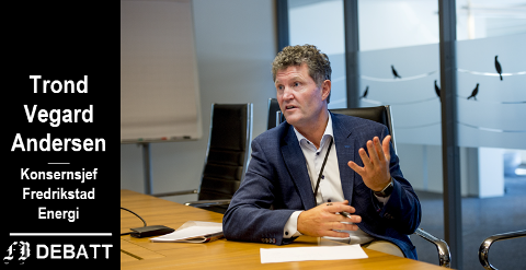 – Bjørndal og Julsen har skapt et inntrykk av at Fredrikstad Energi både bryter loven når det gjelder nettleie og burde levere mer til eierne. Dette første er besvart. Vi bryter selvsagt ikke loven, skriver Trond Vegard Andersen.