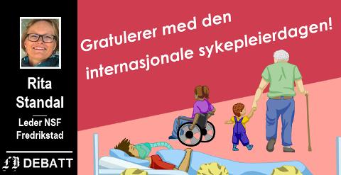 På dette bildet er bare den øverste delen av Norsk Sykepleierforbunds plakat. En vesentlig del er utelatt. Se hele nederst i saken.