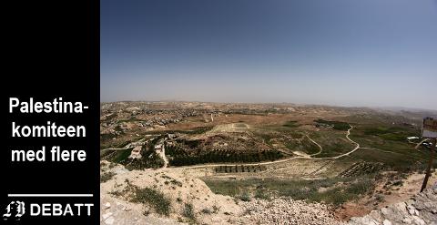 Vestbredden er konfliktområde, den 1. juli går startskuddet for israelsk annektering av nye områder, ifølge innlegget. Bildet viser landskap under israelsk kontroll.