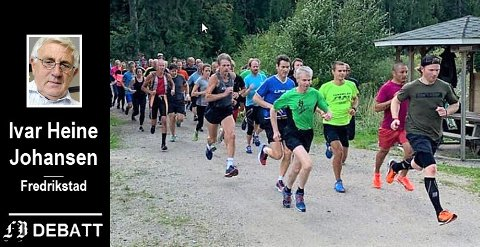 Idrettsfolk fra forskjellig lag, vil teste om de er i slag. Damer og herrer i all slags vær, skriver Heine Johansen om mosjonsløpet som har   gjort Borredalen viden kjent. Bilde fra august i fjor.