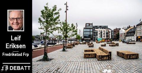 – Fredrikstad Frp heier på gode ideer. Vi mener imidlertid det fortsatt er mulig å benytte en større del av Dampskipsbrygga til parkering, heter det i innlegget.