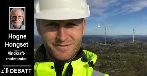 Administrerende direktør Olav Rommetveit i vindkraftselskapet  Zephyr får kritikk for «å ha nådd nye høyder» ved at vindturbinene rager stadig høyere over bakken.