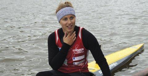 TRE BRONSE: Gina Gedick fra Tysvær kano og kajakklubb vant bronse i seniorklassen på K4 200 meter – og i K4 på 200 meter og 500 meter i juniorklassen