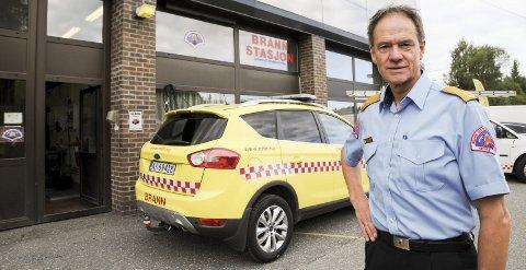 Vil bygge nytt: Nedre Romerike brann- og redningsvesen, her ved brann- og redningssjef Jan Gaute Bjerke, ønsker ny, heltids brannstasjon i Sørum.