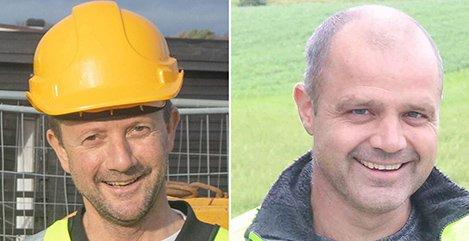AKTIVE: Per Klingsheim (til venstre) og Oddbjørn Grude har etablert tre nye eiendomsselskaper i Klepp.