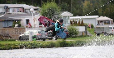 SUVEREN: Tina Steffensen i aksjon i norgescupfinalen. FOTO: GEIR SØRLIE