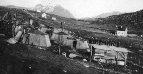 Fra Gravdal: Bildet er tatt fra leiren på Gravdal og lånt ut av Narvik krigsmuseum.