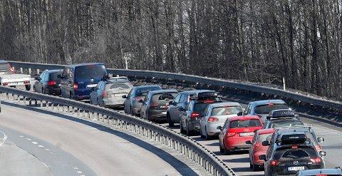 Veitrafikk står for den største delen av utslippene til Gjøvik kommune.  Foto: Terje Bendiksby / NTB scanpix