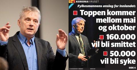 SPÅDOM: Statsforvalter Knut Storberget mener prognosene på OAs forside 27. mars i fjor var realistiske.