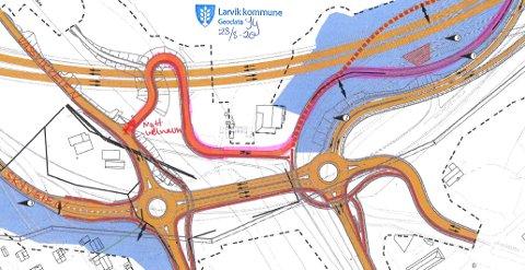 NY VEI: Den markerte veien skal døpes.