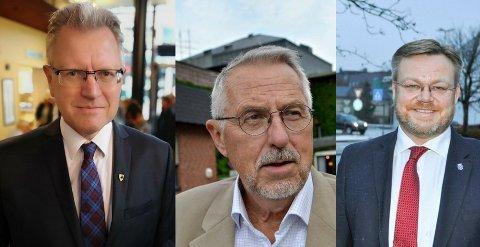 SLIK BLIR FREMTIDEN: Erik Unaas, Petter Schou og Thor Hals vurderer sitt politiske liv.