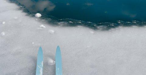 VER OBS: E-CO Energi åtvarar mot dårleg is på fjellvatna i Aurland. (Foto: E-CO)