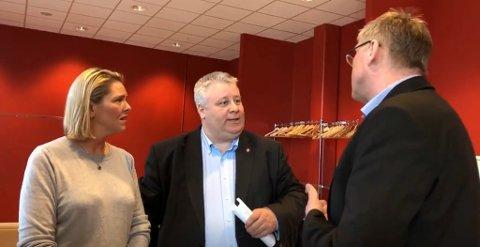 Frps helsepolitikere Sylvi Listhaug og Bård Hoksrud er på besøk i Nord-Norge, og onsdag kom de til Vardø.