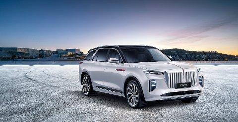 STOR ELEBIL: Kinesiske Hongqi kommer med en stor elbil til Notodden i 4. kvartal. I løpet av 2021 kan det komme hele 60 nye modeller i det norske markedet fra ulike produsenter.