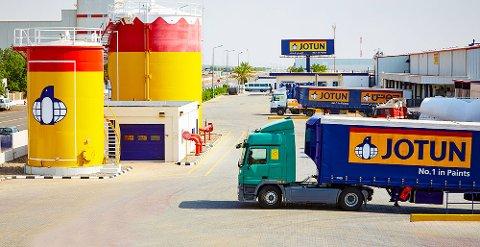 STØRST: Sandefjord-baserte Jotun er Vestfolds største bedrift. I tillegg til viksomheten i Sandefjord er selskapet representert i mange titalls, blant annet Saudi Arabia.