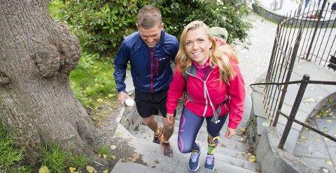 Irmelin Alden (28) har trent med Petter Vallestad omtrent daglig siden april. Hun har fått en ny kropp, og blitt kvitt sosial angst. Foto: Magne Turøy