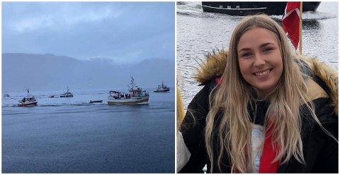 BÅT-TOG: Då det vanlege toget vart avlyst fann familien til Aurora Selvik at dei berre flytta toget til fjorden.