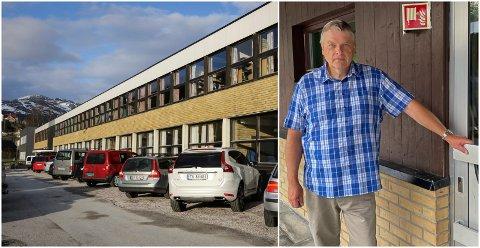 HÆRVERK: Natt til fredag 7. august vart det utført hærverk på eit klasserom og grupperom på Sande skule. Rektor Rune Kvammen synest dette er ei veldig kjedeleg hending.