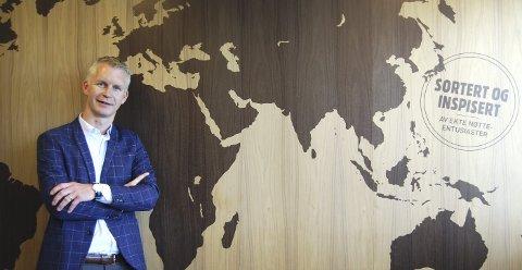 Femte generasjon:  Anders Brynildsen leder nå den tradisjonsrike bedriften på Mosseveien.  – Jeg trives med både jobb og en aktiv fritid med familien, sier Anders Brynildsen.