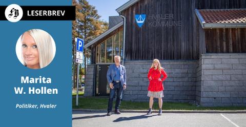 Rådmann Dag Willien Eriksen og ordfører Mona Vauger i en kommune som påstås å være ute av vater.