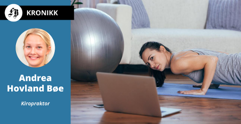 – Et par økter med styrketrening ukentlig kunne ha stor effekt. Det har ingenting å si om dette foregår hjemme, ute i frisk luft, på jobben eller på treningssenter, skriver Hovland Bøe.
